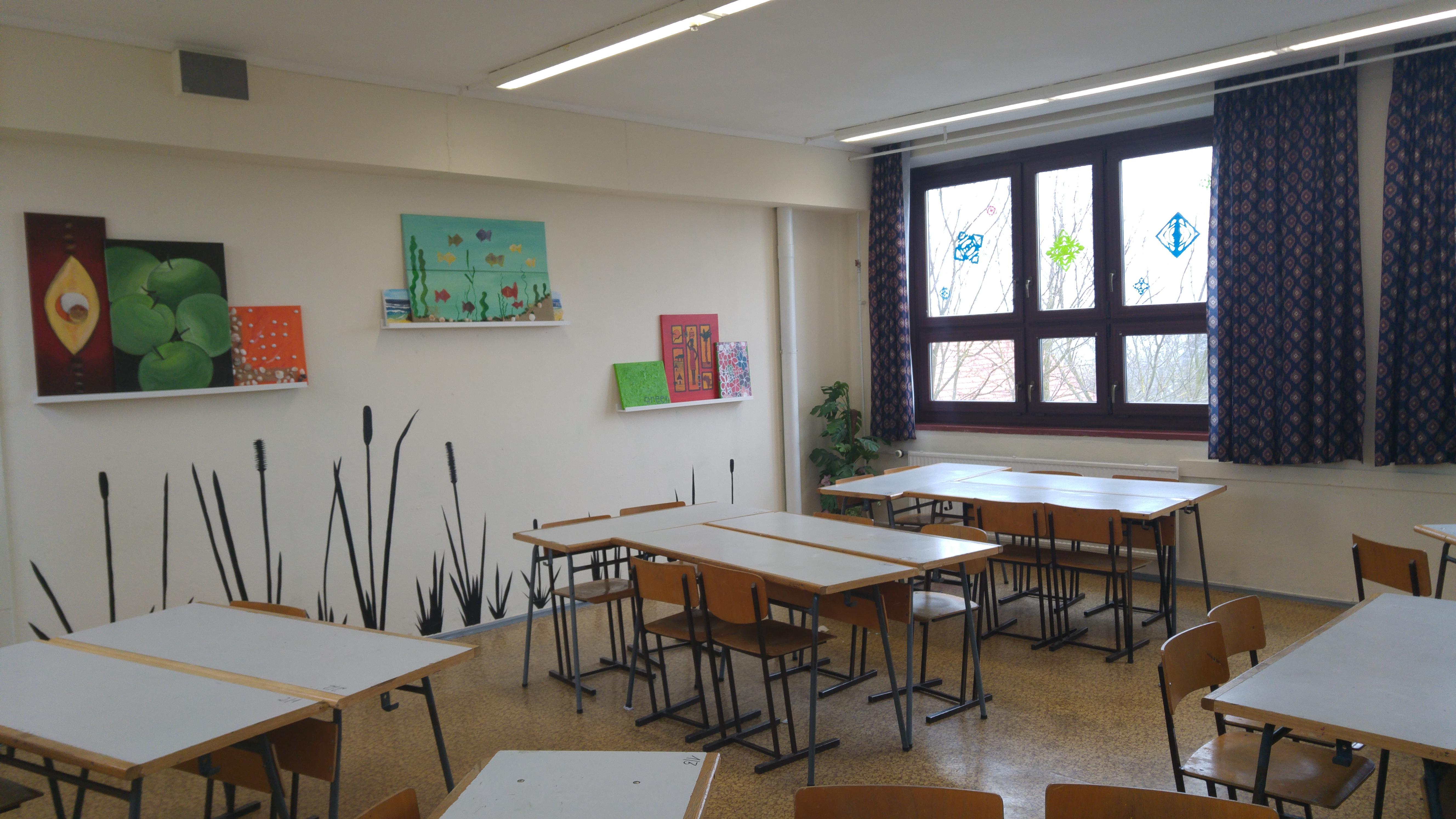 Kunstraum mit kreativer Wandgestaltung