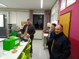 Besuch der Ortsbürgermeister Christian Hecht und Bodo Dittrich